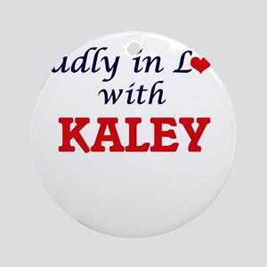 Madly in Love with Kaley Round Ornament