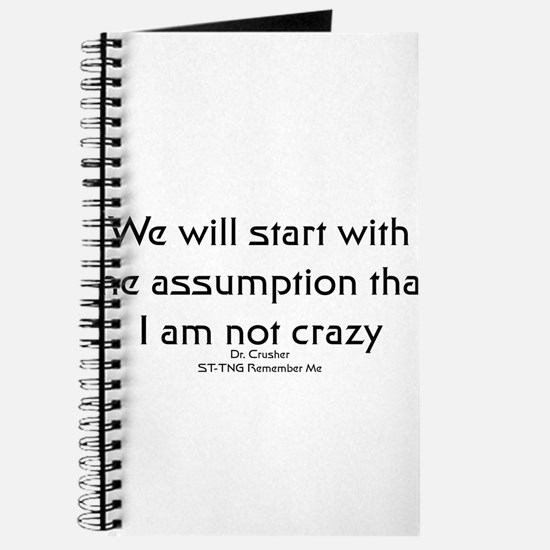 We will start with the assump Journal