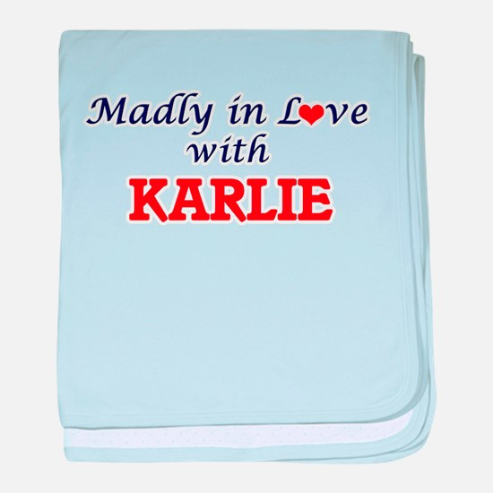 Madly in Love with Karlie baby blanket