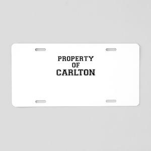 Property of CARLTON Aluminum License Plate