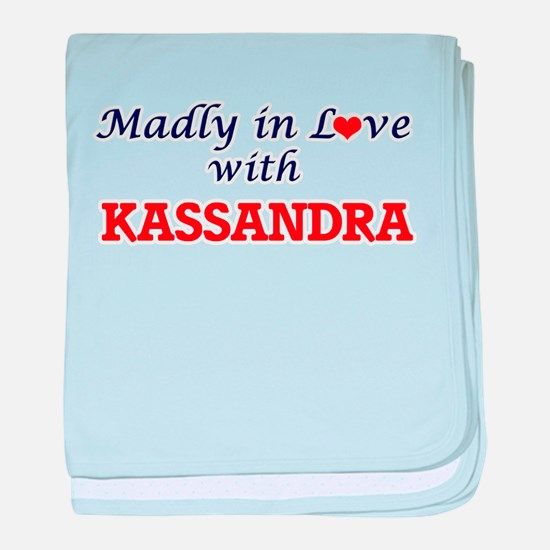 Madly in Love with Kassandra baby blanket