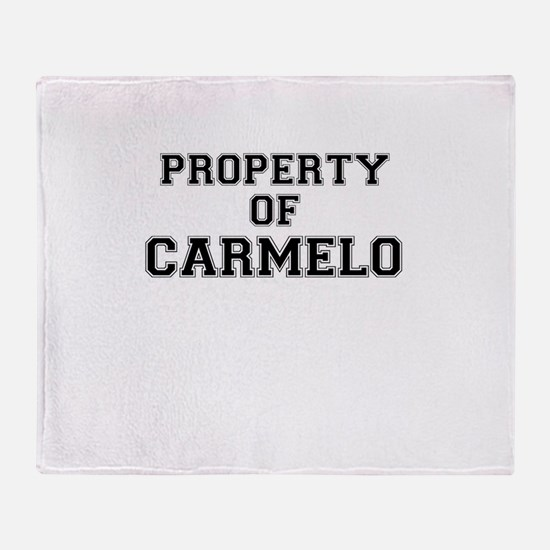 Property of CARMELO Throw Blanket
