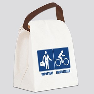 Work Is Important, Cycling Is Imp Canvas Lunch Bag