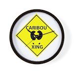 Caribou Crossing Wall Clock