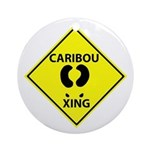 Caribou Crossing Ornament (Round)