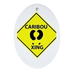 Caribou Crossing Oval Ornament