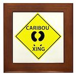 Caribou Crossing Framed Tile