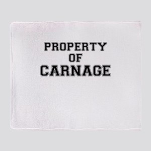 Property of CARNAGE Throw Blanket