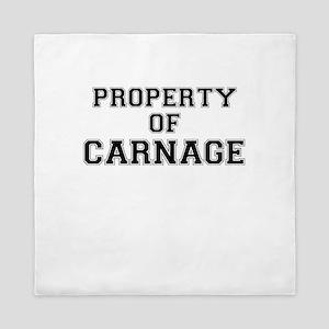 Property of CARNAGE Queen Duvet