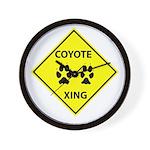 Coyote Crossing Wall Clock