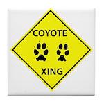 Coyote Crossing Tile Coaster