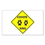 Coyote Crossing Rectangle Sticker