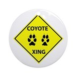 Coyote Crossing Ornament (Round)
