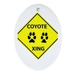 Coyote Crossing Oval Ornament