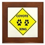Coyote Crossing Framed Tile