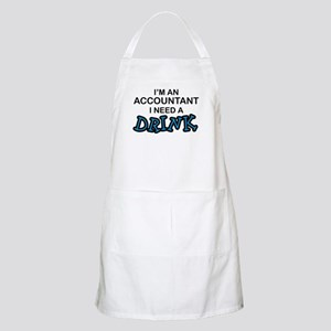 Accountant Need a Drink BBQ Apron