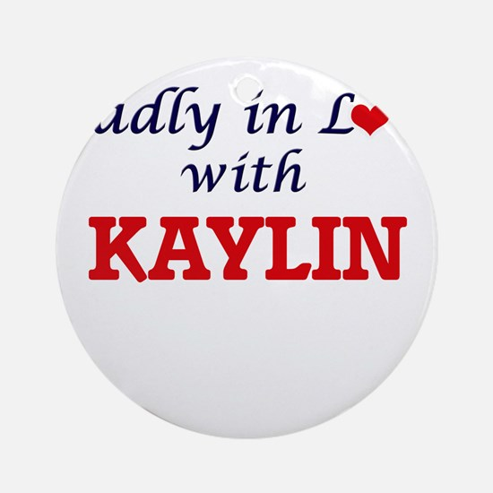 Madly in Love with Kaylin Round Ornament
