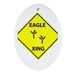 Eagle Crossing Oval Ornament