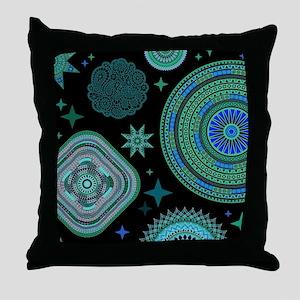 MANDALAS AND STARS Throw Pillow