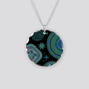 MANDALAS AND STARS Necklace Circle Charm