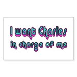 Charles in Charge Rectangle Sticker