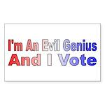 Evil Genius Voter Rectangle Sticker