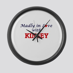 Madly in Love with Kinsey Large Wall Clock