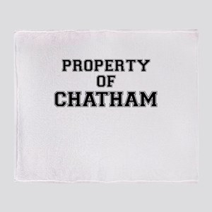 Property of CHATHAM Throw Blanket