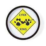 Lynx Crossing Wall Clock