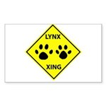 Lynx Crossing Rectangle Sticker