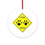 Lynx Crossing Ornament (Round)