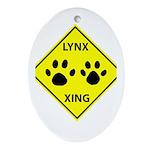 Lynx Crossing Oval Ornament