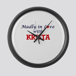 Madly in Love with Krista Large Wall Clock