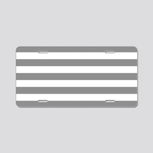 Grey and White Horizontal S Aluminum License Plate