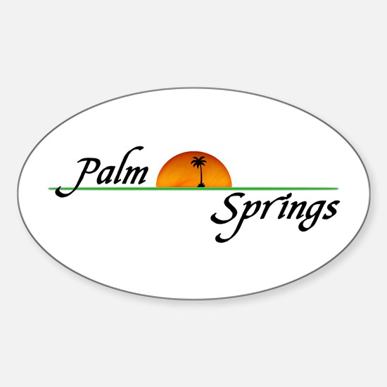 Palm Springs Sunset Oval Decal