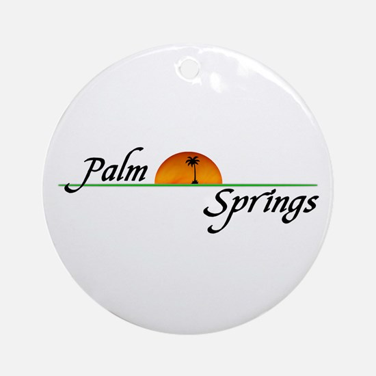 Palm Springs Sunset Ornament (Round)