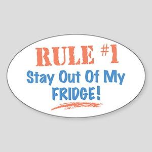 Fridge Kitchen Humor Sticker (Oval)