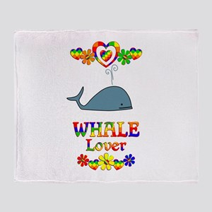Whale Lover Throw Blanket