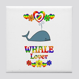 Whale Lover Tile Coaster