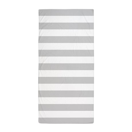 white and grey horizontal stripes beach towel by admin cp133996982. Black Bedroom Furniture Sets. Home Design Ideas