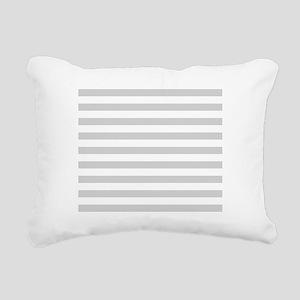 White and Grey Horizonta Rectangular Canvas Pillow