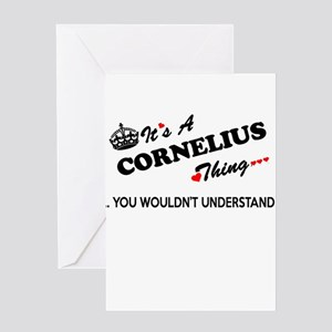 CORNELIUS thing, you wouldn't under Greeting Cards