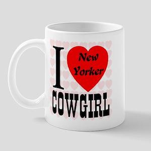 I Heart New Yorker Cowgirl Mug