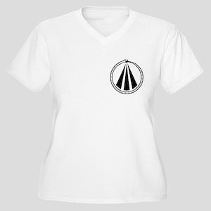 Druid Snake Women's Plus Size V-Neck T-Shirt