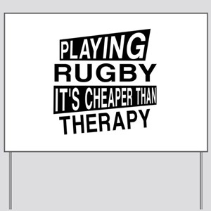Awesome Rugby Player Designs Yard Sign