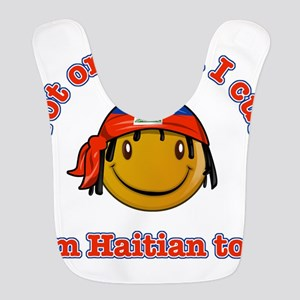 Not only am I cute Im haitian t Polyester Baby Bib