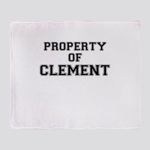 Property of CLEMENT Throw Blanket