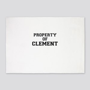 Property of CLEMENT 5'x7'Area Rug