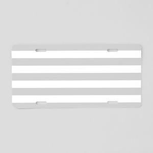 White and Grey Horizontal S Aluminum License Plate