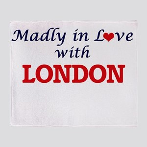 Madly in Love with London Throw Blanket